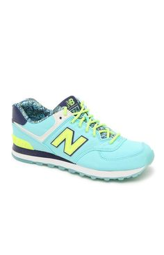 New Balance 574 Luau Collection Running Sneakers - Womens Shoes - Blue from PacSun.