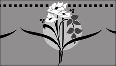 Click to see the actual DE203 - Border No 111 stencil design.