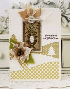 A Child Is Born Card by Melissa Phillips for Papertrey Ink (September 2013)