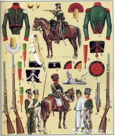 French Chasseurs a cheval, uniform details