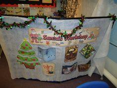 Santas Workshop Display, Classroom Display, class display, christmas, santa, elf, workshop, present, build, Early Years (EYFS), KS1 & KS2 Primary Resources