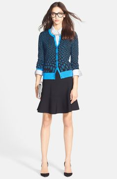 Halogen® Cardigan, Chambray Shirt & Skater Skirt