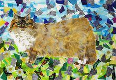 Mixes medium Pet Portraits, Moose Art, Mixed Media, Pets, Medium, Animals, Animales, Animaux, Mixed Media Art