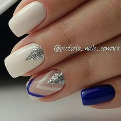 Very sparingly - Colorful Nail Designs, Acrylic Nail Designs, Nail Art Designs, Glam Nails, Beauty Nails, Cute Nails, Stylish Nails, Trendy Nails, Manicure