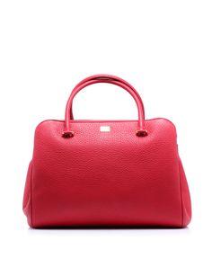 Textured leather handbag shaped like a bowling by @Jennifer Souza & Gabbana