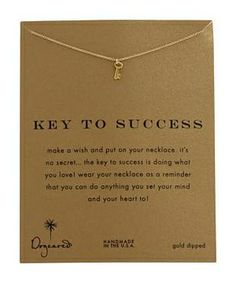 """Dogeared Key To Success Necklace 16"""" #accessories  #jewelry  #necklaces  https://www.heeyy.com/suggests/dogeared-key-to-success-necklace-16-gold/"""