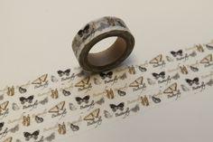 Masking Washi Tape in gold silber SCHMETTERLING  von washitapes auf DaWanda.com