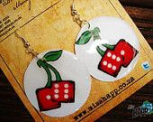 Miss Happ cherry dice earrings