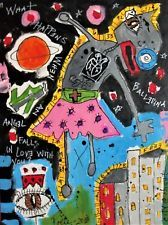 OUT OF BODY EXPERIENCE Poete Maudit, CANADIAN Outsider Art Street Naive RAW