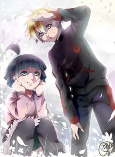 brother and sister (himawari and boruto)