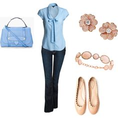 My first Polyvore...love the blouse!