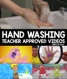 Wash Your Hands Activities – Simply Kinder - Colorful Dreams Kindergarten Nursery Health Activities, Activities For Kids, Germ Crafts, Germs For Kids, Hand Washing Song, Teaching Calendar, Kindergarten Songs, Fun Songs, Classroom Language