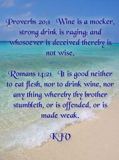 Proverbs 20:1, Romans 14:21
