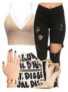 """""""loving you"""" by queen-tiller ❤ liked on Polyvore featuring Forever 21 and Melody Ehsani"""