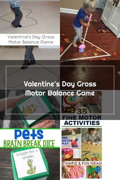 Super simple Valentine's Day gross motor activity that works on balance #valentinesday #valentinesdayactivities #kids #kidsactivities #grossmotor Gross Motor Activities, Activities For Kids, Valentines Day Activities, Brain Breaks, Super Simple, Fine Motor, It Works, Fun, Kid Activities