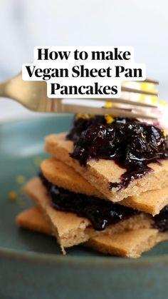 Quick Vegan Breakfast, Sweet Breakfast, Vegan Breakfast Recipes, Breakfast Ideas, Easy Brunch Recipes, Gluten Free Recipes For Dinner, Dessert Recipes, Fun Recipes, Good Food
