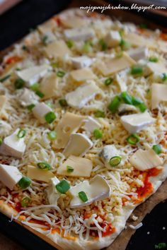 moje pasje: Pizza fromaggio - pięć serów Risotto, Pizza, Ethnic Recipes, Food, Essen, Meals, Yemek, Eten