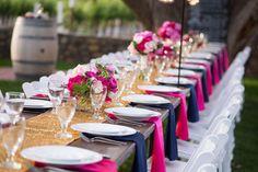 Tablescape from a winery wedding in Palisade, Colorado. Photography: @coweddingphotos, Styling: @and1367, Florals:@bandbdesignco via @coweddingsmag