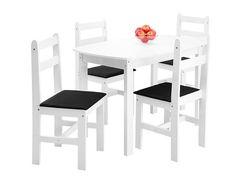 Conjunto Mesa e 4 Cadeiras Mille Fritz Móveis - Conjunto de Mesas e Cadeiras ‹ Magazine Luiza