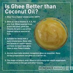 Is Ghee Better than Coconut Oil