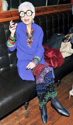 10 Holiday Party Accessory Ideas From Iris Apfel via @WhoWhatWear
