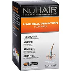 NuHair Hair Regrowth for Men Tablets 50 Tablets ** Check out the image by visiting the link. (This is an affiliate link) #HairCare