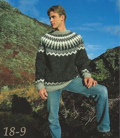 Icelandic Wool Sweater Pattern 18-9 - Icelandic Wool Sweater Pattern - Shop Icelandic Products