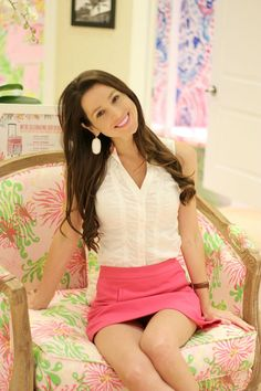 Pink and white resort wear for a fabulous Lilly Pulitzer Orlando visit