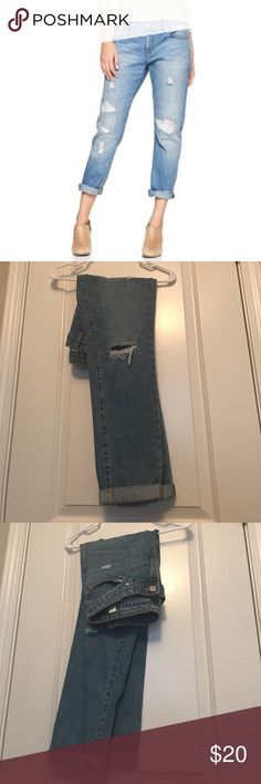GAP Sexy Boyfriend Jeans These are darker than the picture (as you can see) but still the same style and brand! Ore loved but in perfect condition! I do accept offers and trade! 😊 GAP Jeans Boyfriend