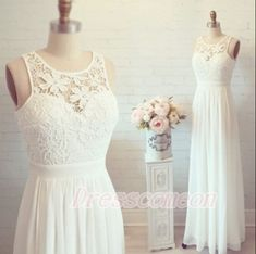 White Lase Cap Sleeves Long Chiffon Prom Dresses For Teens http://www.luulla.com/product/536438/2016-white-simple-cheap-lon-lace-wedding-dresses-elegant-prom-dresses-long-evening-dresses-cap-sleeves-prom-dress-for-teens