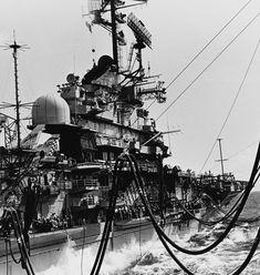 USS Hancock CVA CV-19 Essex class Aircraft Carrier US Navy Uss Hancock, Essex Class, Subic Bay, Go Navy, Leyte, North Vietnam, Flight Deck, Navy Ships, Pearl Harbor