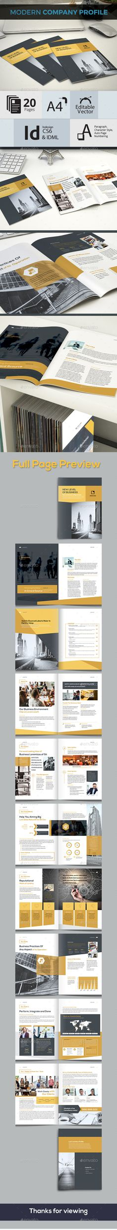 Modern and Creative Company Profile - #Corporate #Brochures Download here: https://graphicriver.net/item/modern-and-creative-company-profile/19342605?ref=alena994