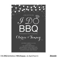 I Do BBQ Invitation / BBQ Engagement Party