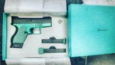 Tiffany & Co Glock 42 custom painted from ZR Tactical Solutions Tiffany Gun, Tactical Solutions, Teal Rooms, Gun Holster, Holsters, Best Handguns, Masonry Paint, Glock 42, Green Shutters