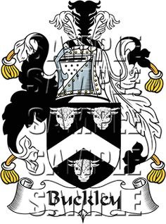 Buckley Family Crest apparel, Buckley Coat of Arms gifts