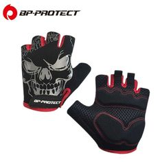 PBJ Winter Gloves Rhinestone Skull Half Finger Gloves Women Warm Knitted Cheap M