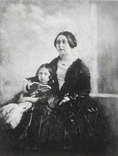 Queen Victoria with Her Daughter, Victoria, Princess Royal, 1844-45.   Calotype. Royal Library, Windsor Castle.