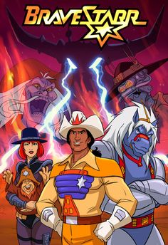 Bravestarr!... I loved this cartoon as a kid! My favorite character was 30-30. (The horse.)  He named his rifle Sarah Jane! But I don't think I could watch it again.  Let's let those happy memories live in their corner my mind, covered by the cuddly nostalgia blanket.