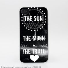 1218R Teen Wolf The Sun And The Moon Hard Transparent Case Cover for iPhone 4 4s 5 5s 5c SE 6 6s Plus