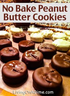 No Bake Peanut Butter Cookies Recipes