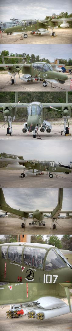 OV-10D:  The North American Rockwell OV-10 Bronco is a turboprop light attack…