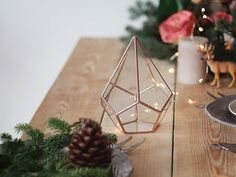 Glass Geometric Terrarium Planter - Teardrop - Wedding Centerpiece by Waen. Top your Christmas table with a glass geometric terrarium and make it sparkle! Use it as a fairy garden planter to catch up today's trends or decorate it with sand, figurines, pines cones and bottle brush trees to create a warm and classic ambiance at your holiday dinner table. To create the appearance of effortless elegance, don't forget to pair this beauty with twinkling candlelight, sparkling crystals and…