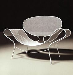 The beauty of expanded metal furniture. Everything can be beautiful and functional
