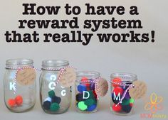 Pom-pom jars | How to use a reward system that will work | token reward system | MOMentity