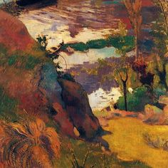 Paul Gauguin Fisherman and bathers on the Aven