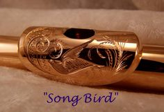 Engraved flute embouchure Some day I must get my embouchure plate engraved in a pretty manner such as this.