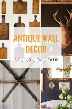 Bring your walls to life with antiques! Fill your rooms with beautiful, unique pieces that evoke a sense of history. Decor, Wall Decor, Room