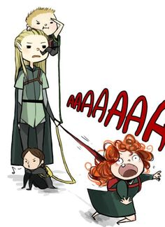 Legolas the father of Hawkeye, Katniss and Merida.    I probably find this way funnier than it is... I can't stop laughing