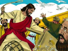 Jesus overturned the tables of the corrupt money changers. He overturned the benches of those selling doves. – Slide 3