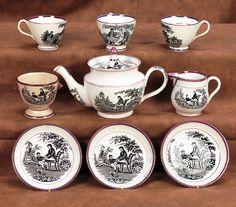 English Softpaste Lustre Child's Tea Set